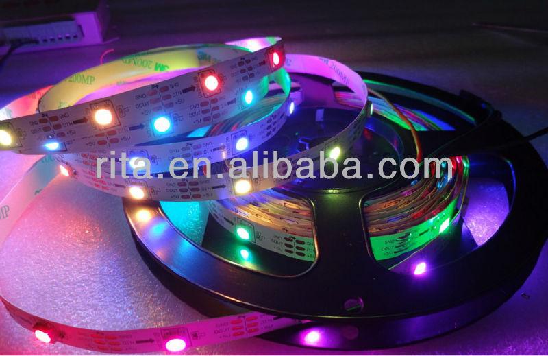 5m piksel LED Srip DC5V ws2812b, olmayan- Su geçirmez, 30 adet ws2812b/30 m piksel; 36W; beyaz pcb