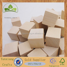 Wooden building blocks cubes