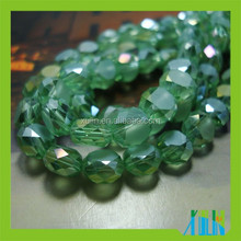 Cheap Green Crystal Glass Bread Beads, Table Decoration Glass Beads