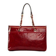 S470-A2381 top grade oily leather woman bags with nice chain handle shoulder bags woman