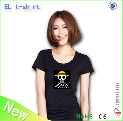fashionable custom el t shirt/el sound t shirt/led t shirt