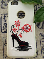 Embroidered shoes cover embroider impoted material high-end cover for mobile phone 6