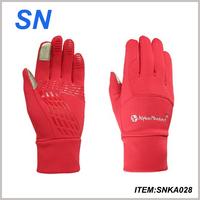 YiWu SN factory wholesale cheap soft winter warm thin sports winter custom gym gloves