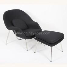Hotel lounge chair réplica womb chair e otomano