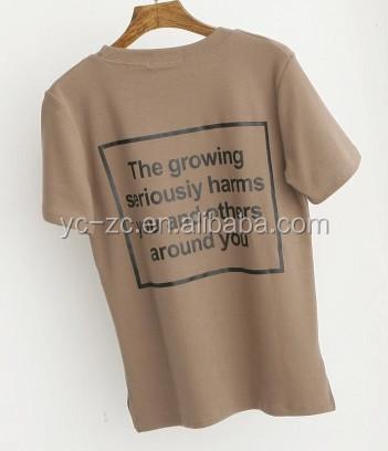 China supplier custom t shirt printed hemp t shirts for T shirt suppliers wholesale