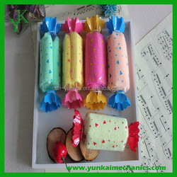 Wholesale wedding gifts cake towel with candy pattern microfiber towel