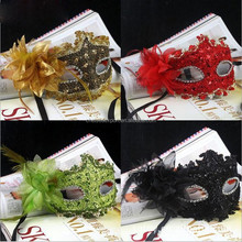 High-grade Halloween party feather decorative masks for sale