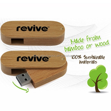 Promotional gift Keychain Wooden Swivel USB Flash Drive with 4GB Memory,,Wooden USB Flash Memory with custom logo