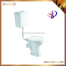cheap model closet simple design bathroom ceramic toilet two piece washdown WC