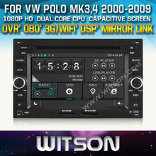 WITSON CAR DVD PLAYER FOR VW POLO 2000-2009 STEERING WHEEL CONTROL FRONT DVR CAPACTIVE SCREEN