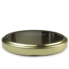 82mm Gold metal twist off lid, rubber lined to prevent leakage and preserve freshness