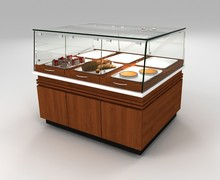 cake barkery cabinet with plates acrylic glass cover