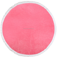 Custom microfiber oem made brand names beach towels round wholesale