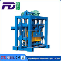 QT4-40 concrete interlock paving block machine, egg laying block making machine