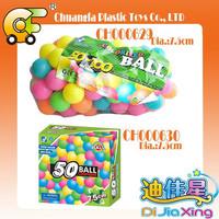 Plastic bulk ball pools game toys colorfull pool ball for kids play