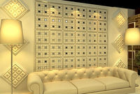 Leather Home Accessories mdf wave pattern wall panels New HOT products bring you new profit