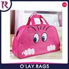 Women Lady Cute Nylon Cat Print Travel Bags Duffle Sport Bags