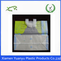 Customized design polyester canvas tote plastic shop bag.