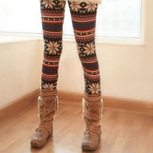 Knitted Colorful Crystal Pattern Fitness Leggings Fabric Tights Pants Leggings Girls Pics
