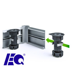 80mm to 110mm Adjustable Bottom Kitchen Cabinet Plastic Leg
