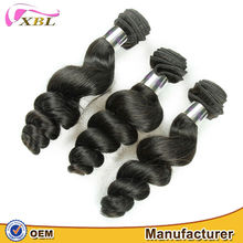 2015 unprocessed romance curl virgin Brazilian big curl hair weave