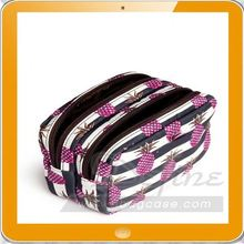 beautiful OEM travel plain cosmetic bag