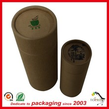 Top quality brown kraft Wholesale Luxury round paper boxes with lids for food / clothes/ wine gift