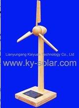 Diy solar de madeira monte modelo moinho de vento para crianças de educação