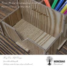 HONGDAO Paulownia unfinished natural wooden pencil box