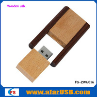 360 rotation with wooden USB2.0 pen stick 1GB-64GB pen Usb Flash drive for gift and toy