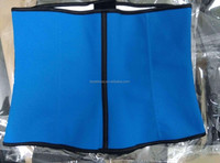 2015 latex blue Women Latex Rubber Waist Trainer Cincher real picture