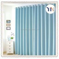 wholesales 100% polyester blue color curtain hometextile blackout fabric