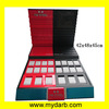 Customized Red & Black Wood Painted Watch Platform Display