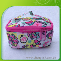 Travel cosmetic organizer makeup artist train case