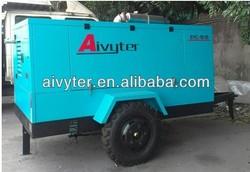 Fuzhou Diesel compressor, screw portable air compressor for sale