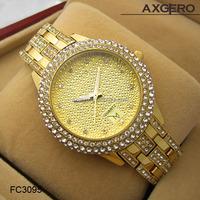 vogue sapphire glass crystal jewelry copper bracelet women's watch 2015