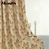 2015 hot selling classic jacquard curtain fabric with valance in luxury style