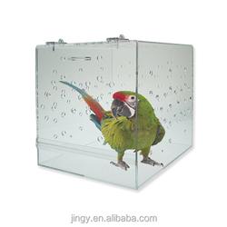 novelty transparent acrylic mimi canary bird cage parrot feeder