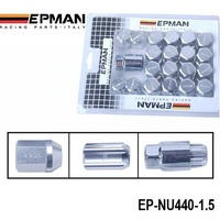 AUTOFAB - Original EPMAN RACING Forged Aluminum Lock LUG NUTS M12X1.5 Silver 20 PCS/Set EP-NU440-1.5