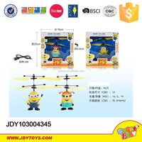 2015 hot item Plastic infrared induction rc flying Wholesale ABS Plastic Induction Control minions toys