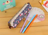 OEM zipper lock pencil bag canvas pencil pouch glasses bag