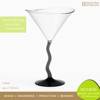Twisted Stem Wine Glass with Black Stem