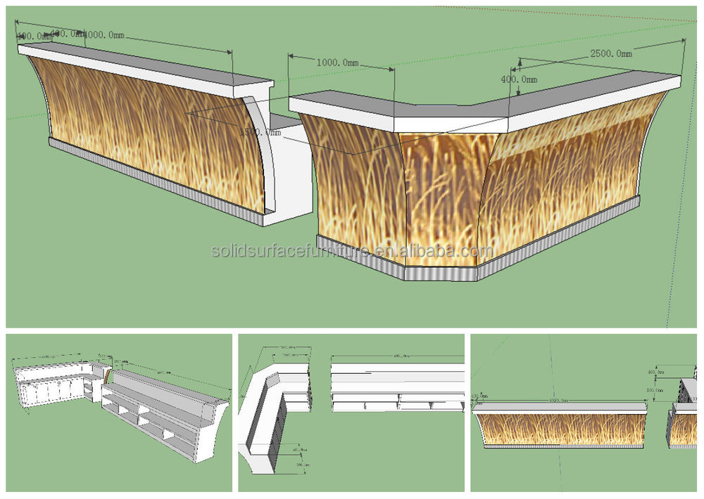 2014 Tw Modern Commercial Bar Counter Outdoor Plastic Led