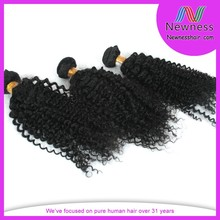 Wholesale unprocessed full cuticle unique design indian afro curly hair extension