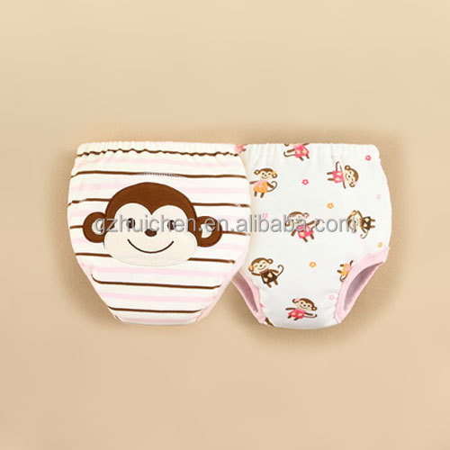 NEW MOM AND BAB 100%cotton embroidery baby training pants stock
