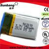 Sunbang-power Li polymer rechargeable 502030 lithium polymer battery 3.7v 250mah for MP3/MP4/PDA /electronic toy/phone