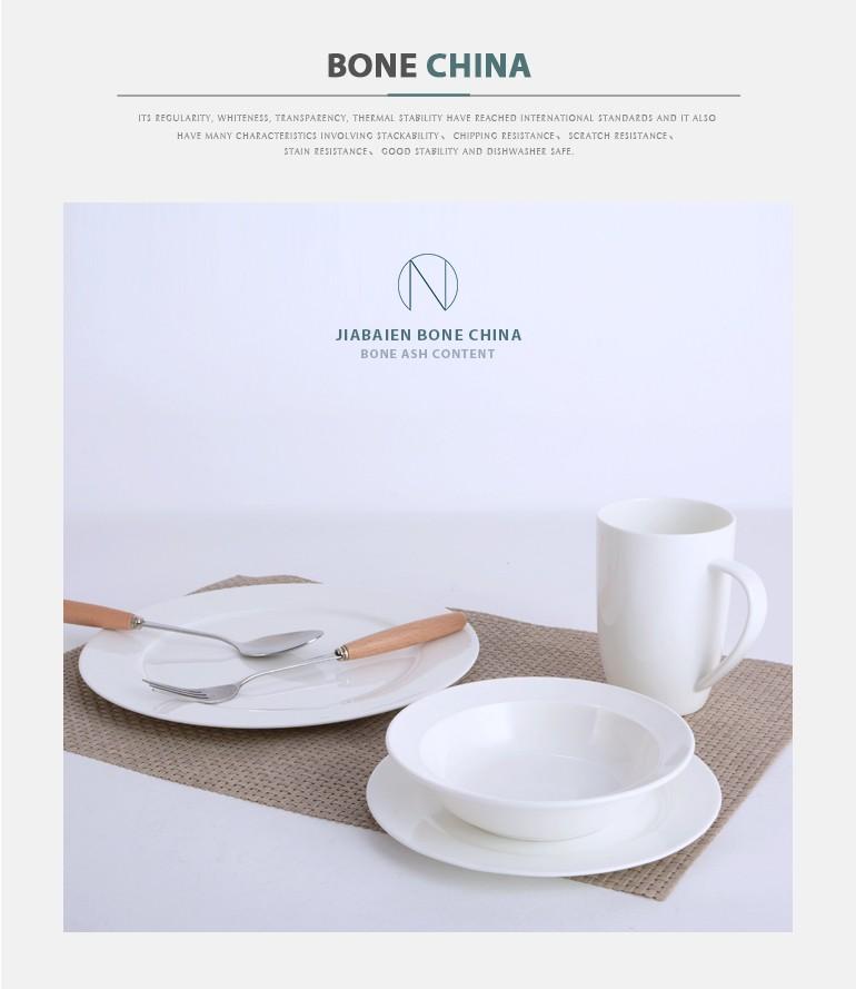 De noël vente chaude de haute qualité super blanc chine en céramique articles de table pour restaurant