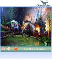 Indoor theme park artificial dinosaur exhibition