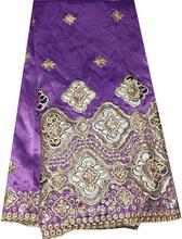 Look!!! Comfortable embroidery pierced george fabrics
