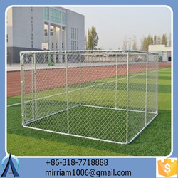 2015 Durable and anti-rust easy assemble high quality cheap wrought iron galvanized outdoor dog cages/dog kennels